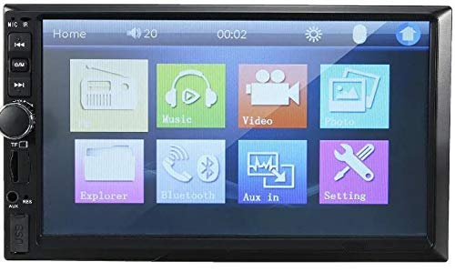 AYW Double Din Car Screen Stereo Media Player Audio Video Touch Screen Stereo Full HD with MP3/MP4/MP5/USB/FM Player/WiFi/Bluetooth & Mirror Link Universal for All Car