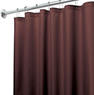 DINY Bath Elements Heavy Duty Magnetized Shower Curtain Liner Mildew Resistant Chocolate Brown