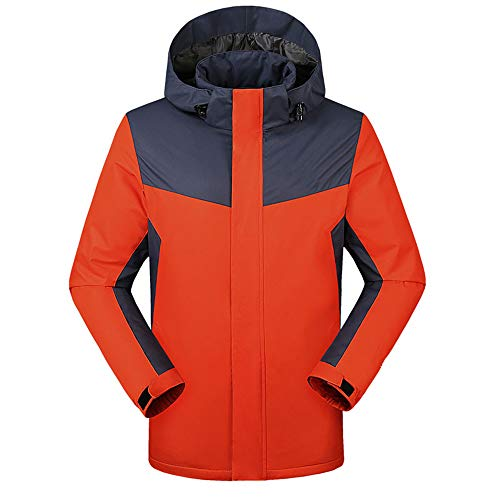 XASY verwarmde jas, winddicht, warm, zwart, winterjas, heren en dames, verwarmingsjas, hoodie met USB-kabel