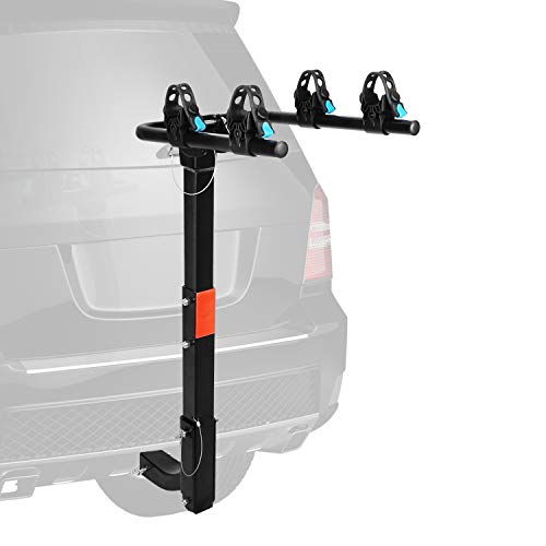 XCAR 2-Bike Bicycle Hitch Mount Carrier Rack Heavy Duty for Cars, Trucks, SUV's Hatchbacks Fit for 2' Hitch Receiver