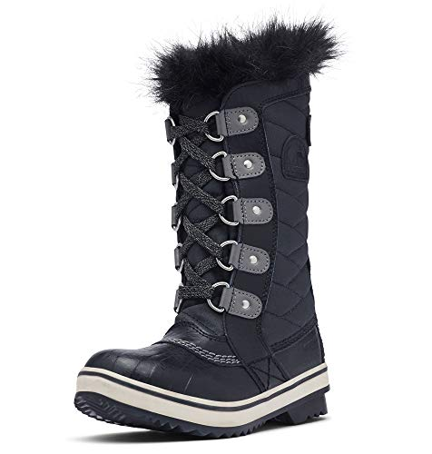 Sorel Girl's Youth Tofino II Boot, Black, Quarry, 3 M US Big Kid