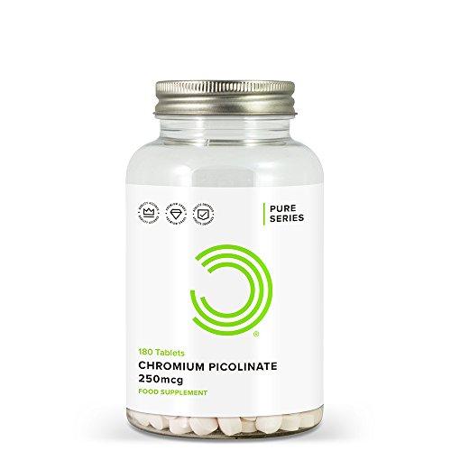 BULK POWDERS Chromium Picolinate Tablets, 250 mcg, Pack of 180