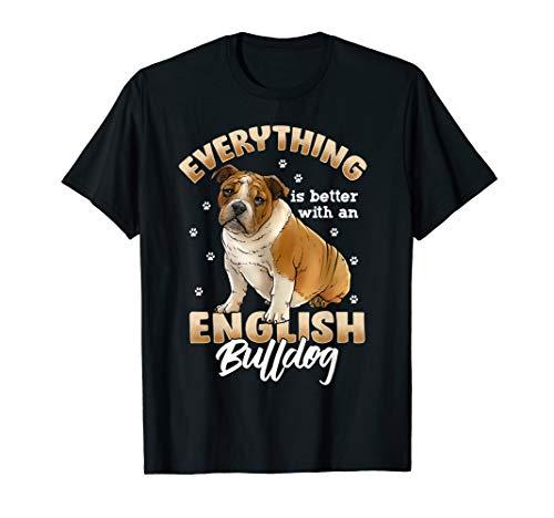 Englische Bulldogge T-Shirt Shirts Damen und Herren Frauen