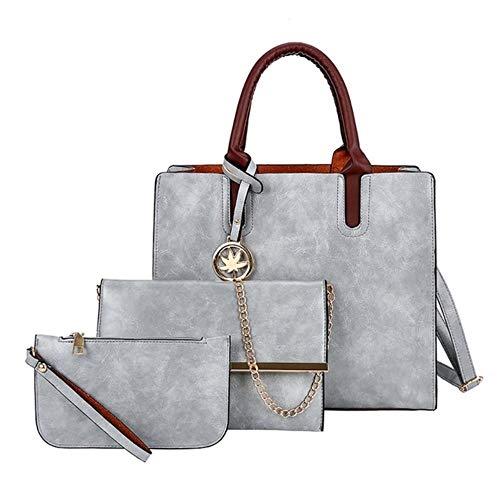 SYART 3Pcs dames tas set tas mode PU leder dames handtas effen schoudertas schouder portefeuille tassen voor vrouwen 2020