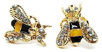 Bumble Bee Stud Post Earrings - New - Pair!
