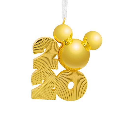 Hallmark Christmas Ornament 2020 Year-Dated, Disney Mickey Mouse Icon, Metal