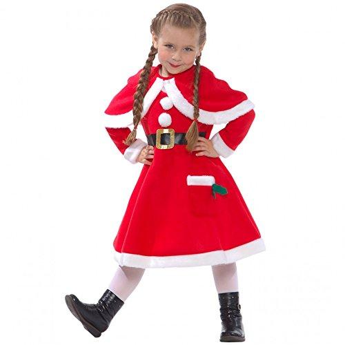 d5613a2078bc Girls Mrs Claus Costume Santas Little Helper Kids Miss Christmas Dress  Outfit
