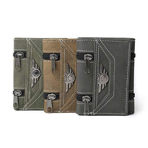 NSQBTM Brieftasche Mode Nieten Geldbörse Für Männer Concise Qualität Dünne Geldscheinklammer Organizer Man Wallet