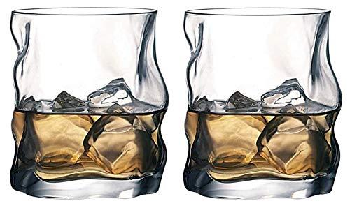 SoGuDio Decantador Gafas de Whisky únicas, Gafas escocesas Premium, Gafas de Bourbon para cócteles, Cristal de Bebida de Estilo de Roca, Perfecto para Regalos Decantador de Whisky