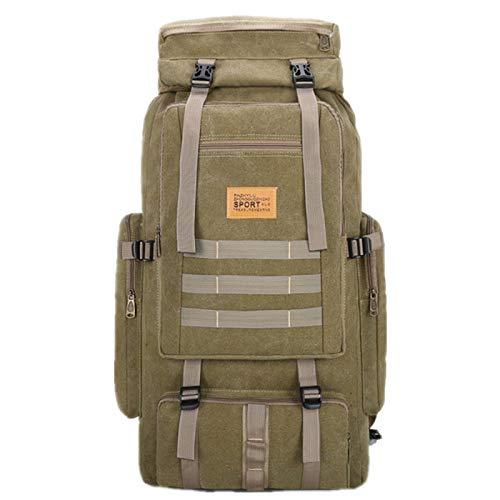 Large Capacity Men Backpack Canvas Drawstring Shoulder Bag Multifunctional Travel Bag Luggage Bag