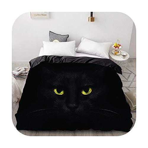 happy Boutique Bettbezug 3D Kuscheldecke / Decke für Doppelbett / König personalisierte Bettwäsche / 220 x 240 / 200 x 200 cm Katze Endormi-Pet-8-155 x 215 cm x 1 Stück
