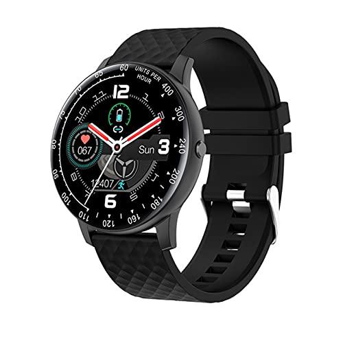 YDZ H30 Smart Watch 2021 Hombre DIY Reloj Face IP68 Monitor De Frecuencia Cardíaca Impermeable para Android iPhone Smartwatch Mujeres,A