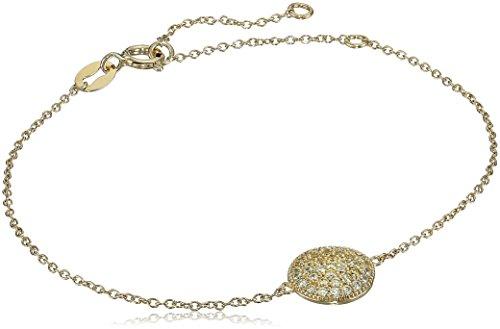 Myia Passiello Timeless Fancy Yellow Pave Circle Charm Bracelet