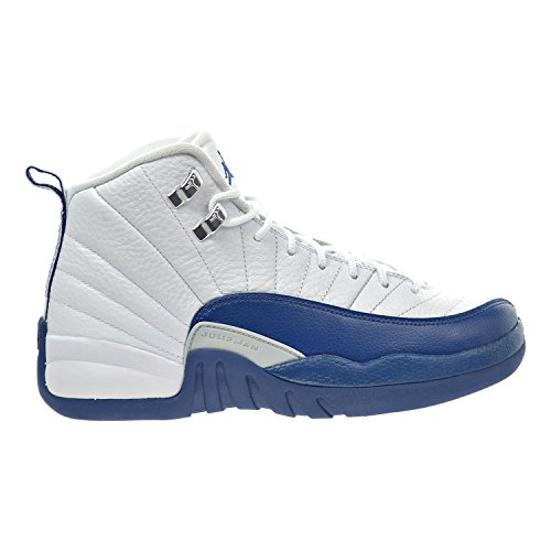 white and blue jordans - 1