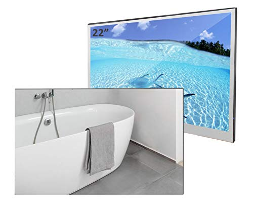 Elecsung 22inch Smart Mirror TV for Bathroom IP66 Waterproof with Integrated HDTV(ATSC) Tuner and Built-in Wi-Fi (Updated with Bluetooth 2021 Model)