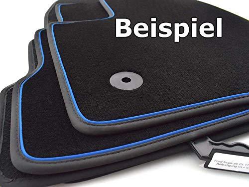 kh Teile Auto Fußmatten Konfigurator Selbst Gestalten, Premium Set, zB. Doppelnaht, Ziernaht, Zierband Rand. Nubukleder, 4-teilig (Umrandung: Zier-Band)