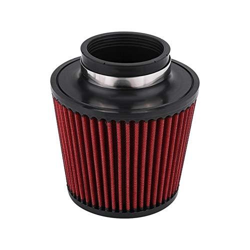 Rumors Luftfilter High Flow Auto-Änderung Inlet Lufteinlass Runde Kegel Luftfilter Rot PU Baumwollgaze Mesh-Filter Pilzkopf (Color : Red2)