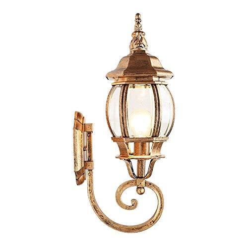 Nanyun Wandlampen, bronskleurig, buitenwandlamp, wandlamp, met glazen scherm, voor huis, tuin, balkon, wandlantaarn