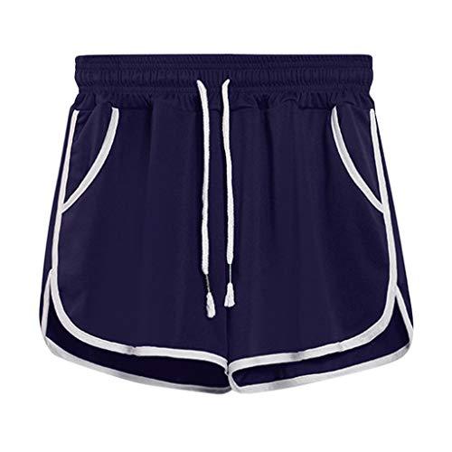 SHUANGA Damen Shorts Sport, Jogginghose für Damen Laufshorts Sporthose Yoga Kurze Hose Sweatpants Baumwolle Shorts Schlafanzughose für Fitness, Running, Yoga, Wandern, Gym, Tanzen