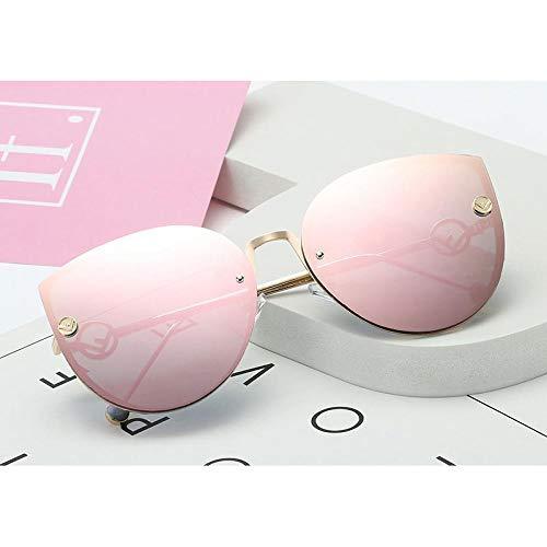 Sonnenbrille Sunglasses Cat Eye Sonnenbrillen Frauen Luxusbrillen Mode Frauen Sonnenbrillen Klare Linse Cateye Weibliche Brillen Randloser Farbverlauf C9Mirrorpink