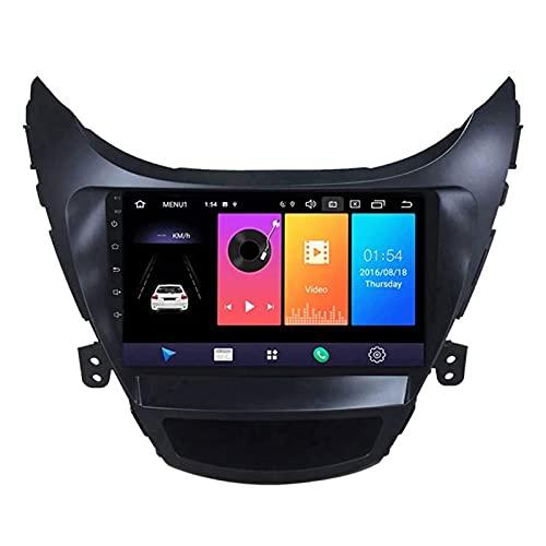 WY-CAR Android 8.1 Navegación De Automóviles Estéreo para Hyundai Elantra 2011-2013, Unidad De Cabeza De Pantalla Táctil De 9 Pulgadas, FM/Bluetooth/Control De Volante/Cámara Retrovisor