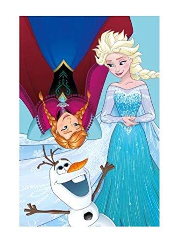 Theonoi Toalla de mano para niños, toalla de invitados, toalla de cara – Algodón – Frozen Elsa y Anna – Disney gran regalo para niñas (FFrozen 03)