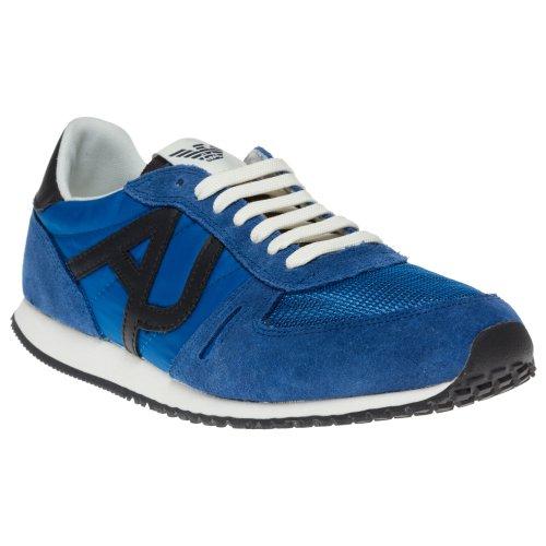 Armani Jeans Nylon Runner Herren Sneaker Blau