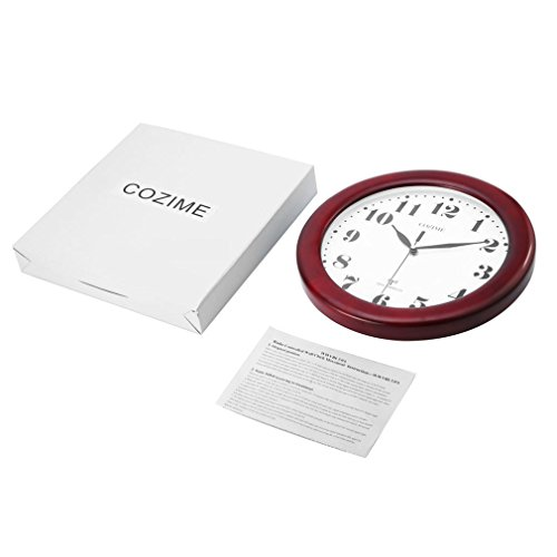 Wine Red Clock Classic 12