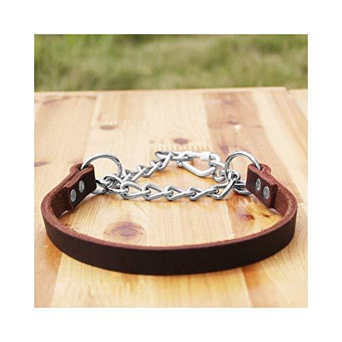 Yuandudu Xiangquan Collare A Catena Regolabile per Animali Domestici in Pelle P Collare per Cani di Taglia Media, Larghezza 1,8/2,4 Cm (Color : 1.8cm, Size : M)