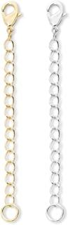1pc Sterling Silver Chain Extender Removable Adjustable - 3 inch Chain Extension for Necklace Anklet Bracelet SS303-3