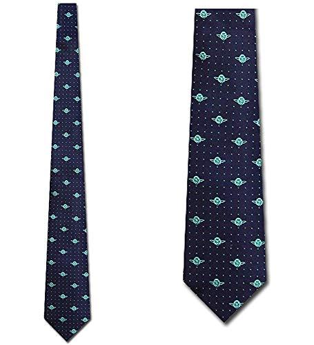 WILHJGH Corbata de seda Yoda Repeat - Corbatas para hombre