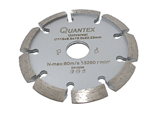 Diamant Frässcheibe Ø 115 mm mit V- Segment. Segmentstärke 9,5 mm, Fugenfräser für Mauerwerk und Putz