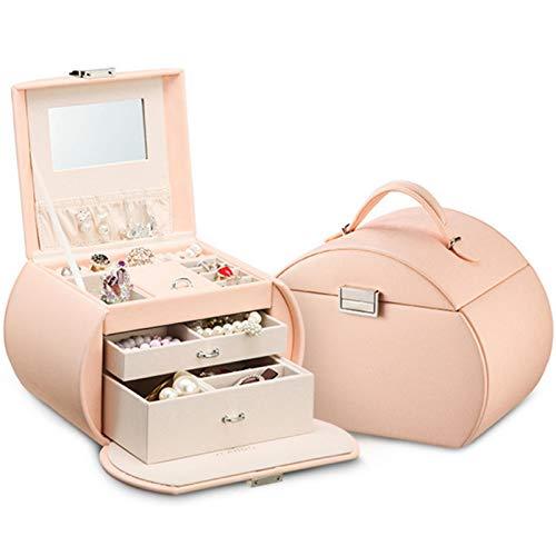 YWAWJ Coque cosmétique, boîte de Rangement de Bijoux Professionnelle, avec Accessoires de Bijoux verrouillables, étui cosmétique de Voyage, adapté aux Filles