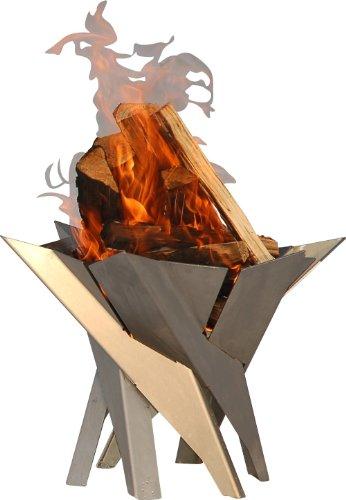 Svenskav Design-Feuerkorb/Feuerschale 'Phoenix' aus massivem Stahl Gr. XXL