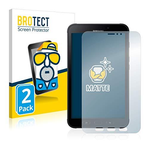 BROTECT Protector Pantalla Anti-Reflejos Compatible con Samsung Galaxy Tab Active 2 (2 Unidades) Pelicula Mate Anti-Huellas