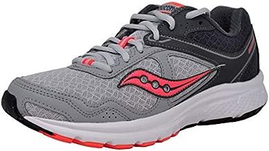 Saucony Women's Cohesion 10 Grey/Peach Running Shoe 8.5 M US
