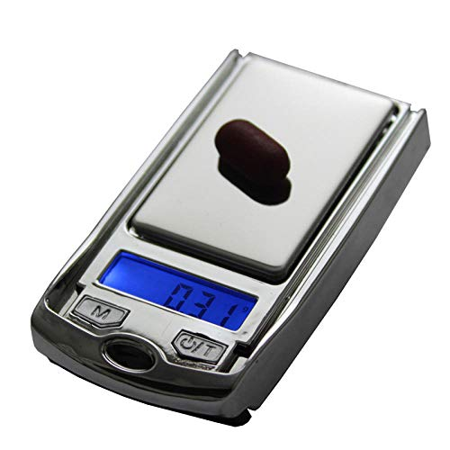 Báscula electrónica de llave de coche portátil 0.01g mini bolsillo que pesa 100g báscula de joyería mini gramo instrumento de pesaje 200g / 0.01g