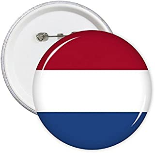 DIYthinker Drapeau national Pays-Bas en Europe Symbole Pays Motif Mark ronde Pin Badge Bouton 5Pcs XL
