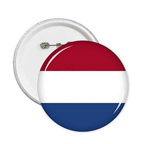 DIYthinker Nederland Nationale Vlag Europa Land Symbool Mark Patroon Ronde Pin Badge Knop 5 Stks L