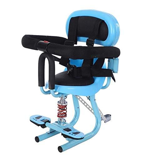 YRDDJQ Ebike Front Kindersitz Roller Motorrad Kindersitz Kindersitz Vorderrad Elektrorad Baby Sicherheit, Blau