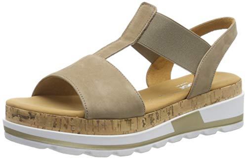 Gabor Shoes Damen Comfort Sport Riemchensandalen, Beige (Silk (Kork) 33), 38 EU