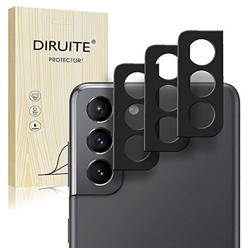 Diruite - Pellicola protettiva in vetro temperato per Samsung Galaxy S21+, 3 pezzi, colore: Nero