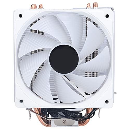 Zunate Ventilador de enfriamiento de CPU, 6 Tubos de Calor Ventilador de enfriamiento de computadora de disipación de Calor silencioso para Escritorio, Ventilador de Silencio de 1300 RPM, para Intel