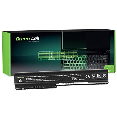 Green Cell Standard Serie HSTNN-DB75 HSTNN-IB75 Batteria per Portatile HP Pavilion DV8 DV7 DV7T DV7Z DV7-1000 DV7-2000 DV7-3000 HP HDX18 (8 Pile 4400mAh 14.4V Nero)
