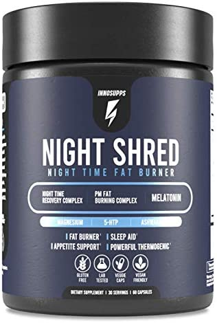 Inno Supps Night Shred Natural Sleep Support and Night Time Fat Burner Appetite Suppressant product image