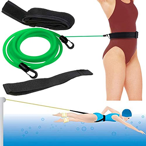 3.0m / 9.84FT Swim Training Belt, Pool Exercise Equipment for Adults Child, Stationary Swim Trainer, Swimming Waist Resistance Bands, Leash Swimming Training Equipment, Swimmer Harness Tool Belt