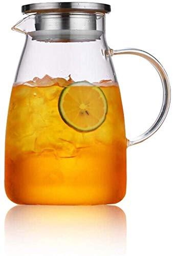 Tetera Tarro jugo tetera l Bidón de jarro con la tapa de la botella de agua de la jarra de cristal de agua-Libre Decanter - BPA copa jarro y agua de la jarra de té Jug Boquilla Hervidor eléctrico