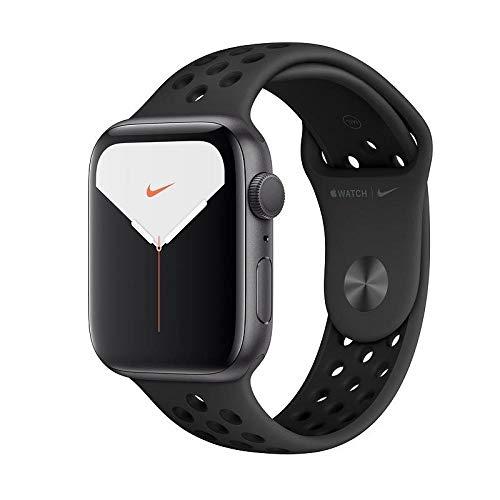 Watch Nike Series 5 GPS - Cassa in alluminio grigio siderale con Cinturino Nike Sport antracite/nero (44 mm)