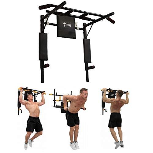 StM–Sport | Klimmzugstange 3 in 1 Ironman | Wandmontage | Pull Up Bar/Chin Up Bar | Multifunktional | Dip Station | Home Gym | Workout | Sportgerät | Fitness Geräte | Klimmzug Stangen