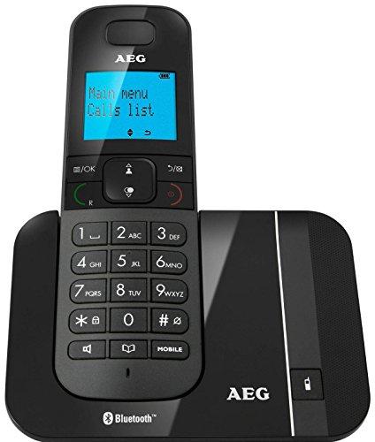 """AEG Voxtel D550BT - Schnurloses 1.8\"""" DECT-Telefon mit Bluetooth-Funktion - Schwarz"""